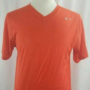 NIKE DRI-FIT MEN ORANGE WORKOUT WEAR CASUAL SHIRT